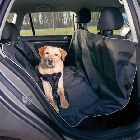 Duża, prosta mata ochronna, pokrowiec na tylne siedzenie samochodu - 160x145 cm