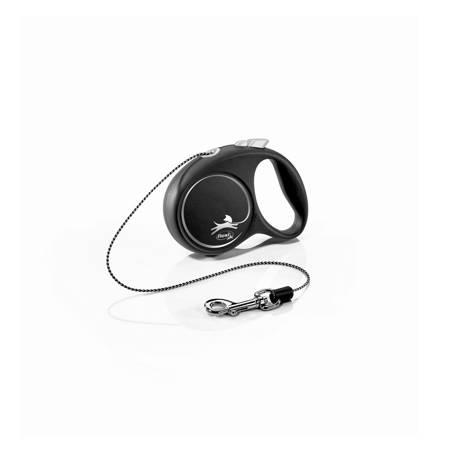 Flexi Black Design Smycz automatyczna Linka XS 3m czarna