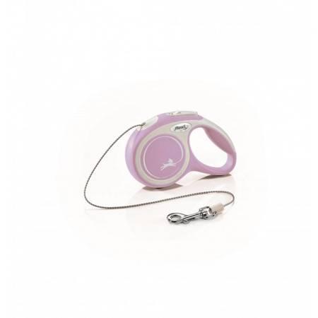Flexi Smycz automatyczna New Comfort XS linka 3m różowa