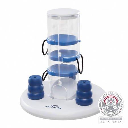 Gra strategiczna dla psa Wieża z trzema szufladkami + stożki Zabawka do ukrywania przysmaków