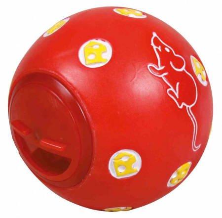 Interaktywna piłka na przysmaki dla kota Kula na smakołyki z regulacją wielkości otworu