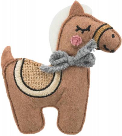 Koń z szeleszcząca folią dla kota