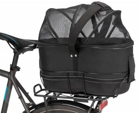 Kosz na rower z siatką odpowiedni na wąskie bagażniki rowerowe