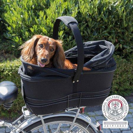 Kosz na szeroki bagażnik rowerowy dla psów do 8 kg