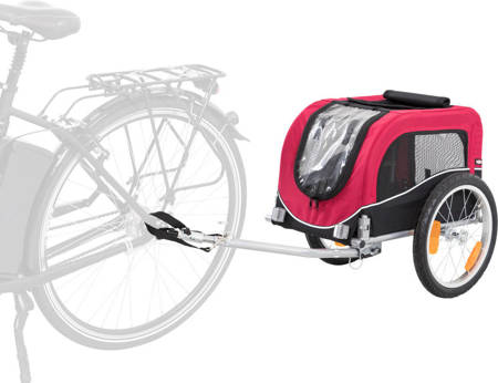Przyczepka rowerowa dla psa Przyczepa rowerowa S czerwona