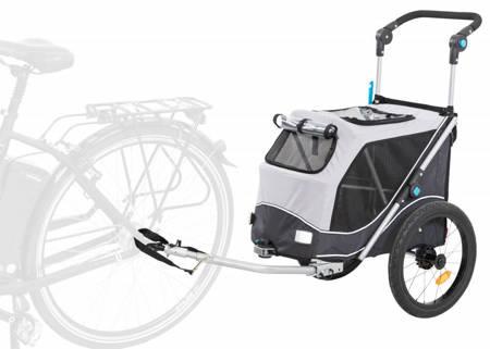 Przyczepka rowerowa dla psa Przyczepa rowerowa z funkcją szybkiego składania S szara