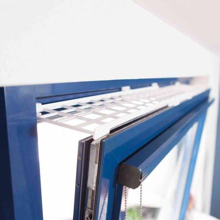 Rozszerzalna kratka zabezpieczająca, ochronna do okna dla kota Osłona okna przed kotem 75-125cm × 16 cm