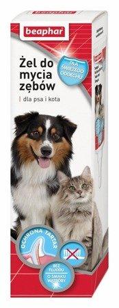 Żel do czyszczenia zębów bez szczotkowania o smaku mięsa dla psa i kota Beaphar 100g